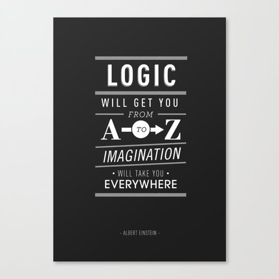 Type Poster - Albert Einstein Canvas Print