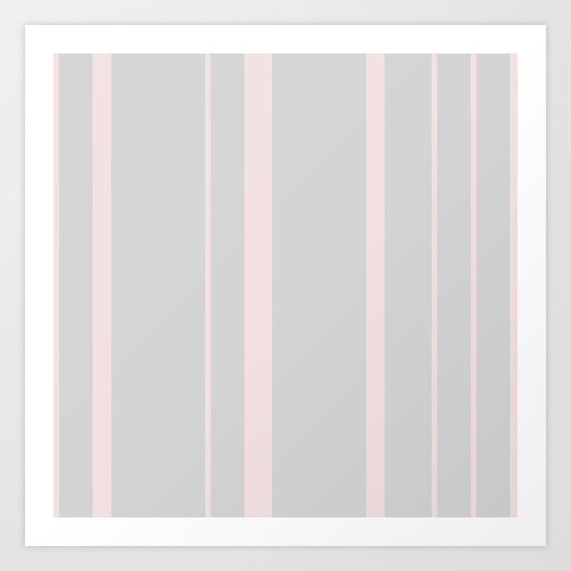 Soft Pink lines print Minimalist Printable wall art Pink Abstract bedroom  wall decor Art Print