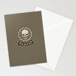 Badass skull Stationery Cards