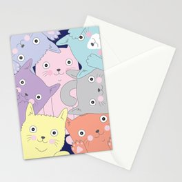 Curious Cats Stationery Cards