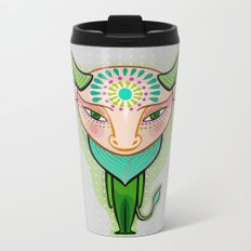 taurus zodiac sign Metal Travel Mug