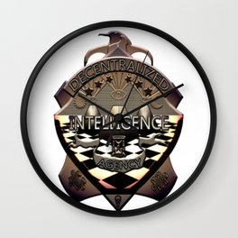 DECENTRALIZED INTELLIGENCE AGENCY, BADGE Wall Clock