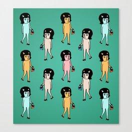 catnip shoppers Canvas Print