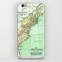 Vintage American Colonies Map - 1775 iPhone Skin