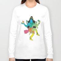 shiva Long Sleeve T-shirts featuring Lord Shiva by xDiNKix