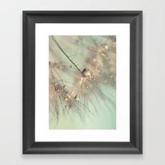 dandelion mint Framed Art Print