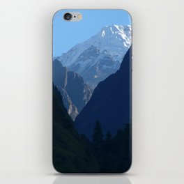Pines and Mountains near Dharapani iPhone Skin