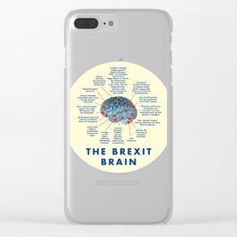 THE BREXIT BRAIN (AND WHAT IT THINKS) Clear iPhone Case