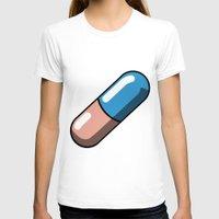 akira T-shirts featuring Akira Pill by Studio Momo╰༼ ಠ益ಠ ༽