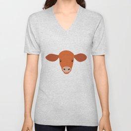 Cow-mor orange Unisex V-Neck