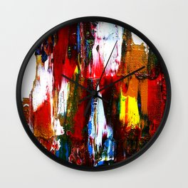 Coney Island (Part 2) acrylics on stretched canvas  Wall Clock