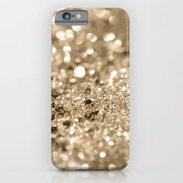 Champagne Gold Lady Glitter #1 #shiny #decor #art #society6 iPhone Case