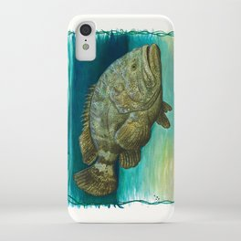 """Goliath Grouper"" by Amber Marine ~ Watercolor Painting, (Copyright 2015) iPhone Case"