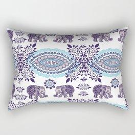 Boho Elephant Pattern Rectangular Pillow