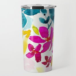 Blue Bloom Travel Mug
