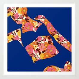 Back to Nature (Retro NZ Floral) Art Print