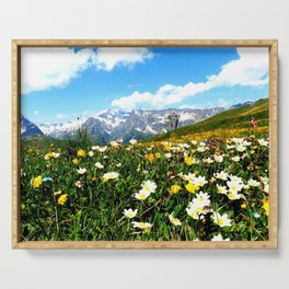 Summer in the Alps Serving Tray