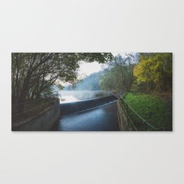 deep hayes country park waterfall Canvas Print