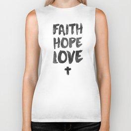 Faith Hope Love Biker Tank