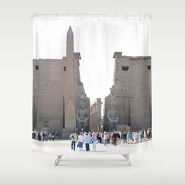 Temple of Luxor, no. 10 Shower Curtain