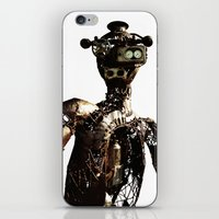 robot iPhone & iPod Skins featuring robot by Кaterina Кalinich