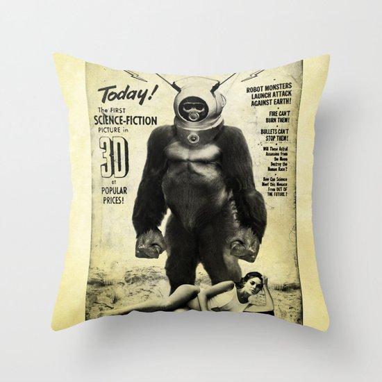 Robot Monster Throw Pillow