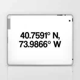 Coordinates of the Richard Rogers Theater - Home of Hamilton: The American Musical Laptop & iPad Skin