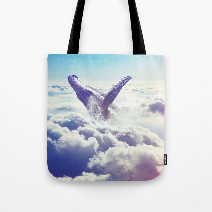 Cloudy whale Tote Bag