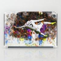 ronaldo iPad Cases featuring Cristiano Ronaldo - THE TRADE MARK KICK by Don Kuing