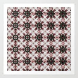 red baroque pattern Art Print