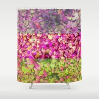 psychadelic Shower Curtains featuring Psychadelic Succulents by Hithere22