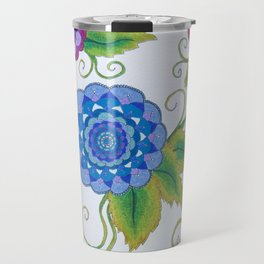 Floral Mandala Collective Travel Mug