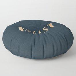 RESIST 7.0 - Rose Gold on Navy #resistance Floor Pillow