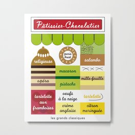 Patisseries, so delicious, Vintage Decoration Print Poster Metal Print