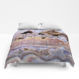 Pink agate lavender druse crystal quartz gem gemstone geode mineral stone marble photograph hipster Comforters