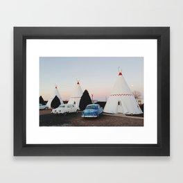 Wigwam Motel Framed Art Print