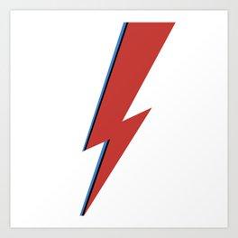 Bowie Bolt Art Print