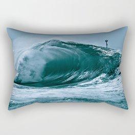 The Wedge Blue Barrel  Rectangular Pillow
