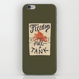 Freedom biker print iPhone Skin