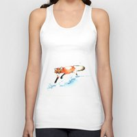 racing Tank Tops featuring Racing Winter by Krislyn Dillard