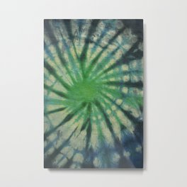 Tie Dye Blue Green 8 Metal Print