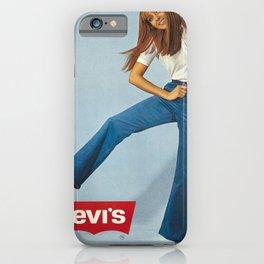 Werbeplakat levis h affiche ancienne iPhone Case