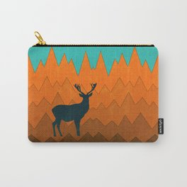 Deer silhouette in autumn Carry-All Pouch