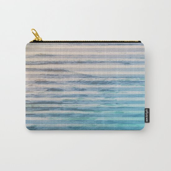 Sunrise Ocean Stripes Carry-All Pouch