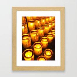 Candles of Notre Dame, Paris Framed Art Print