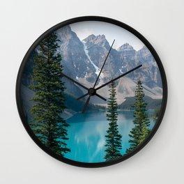Moraine Lake - Trees Wall Clock
