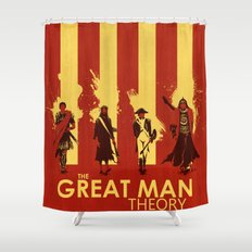 The Great Man Theory Shower Curtain