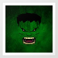 monster inc Art Prints featuring Monster Green by Inara