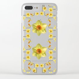 Daffodil Madness Clear iPhone Case