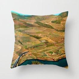 Douro Valley Portugal Throw Pillow